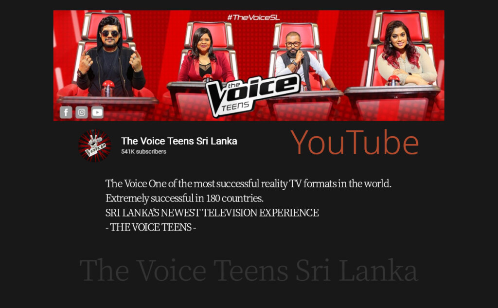 listen music The Voice Teens Sri Lanka
