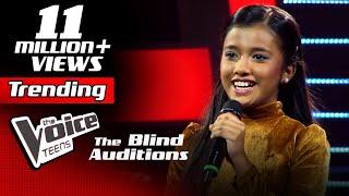 Sahangi Hansanjali | Kiththane (කිත්තානේ) | Blind Auditions | The Voice Teens Sri Lanka